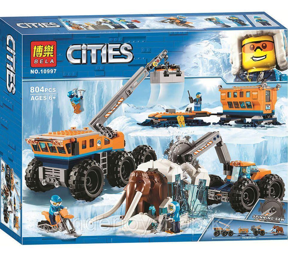 Конструктор BELA 10997 Передвижная Арктическая база аналог LEGO (60195) 804 детали