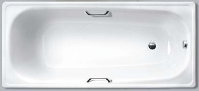 Ванна стальная эмалированная WHITE WAVE COMFORT L 1500*750 с ручками