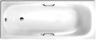 Ванна стальная эмалированная WHITE WAVE ITALIKA L 1700*750 с подлокотниками и ручками