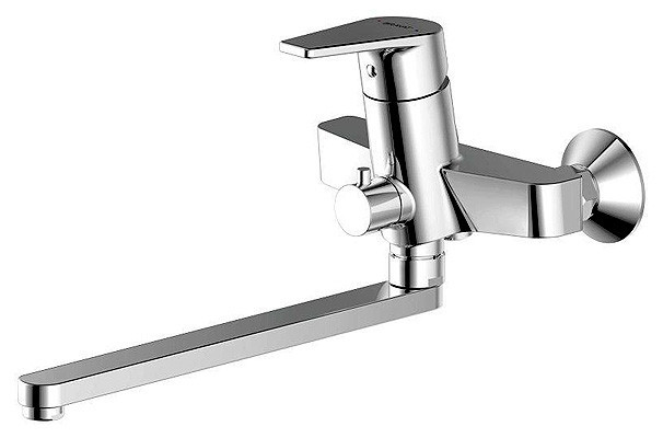 Смеситель Bravat Line F65299C-1L для ванны излив 300 мм