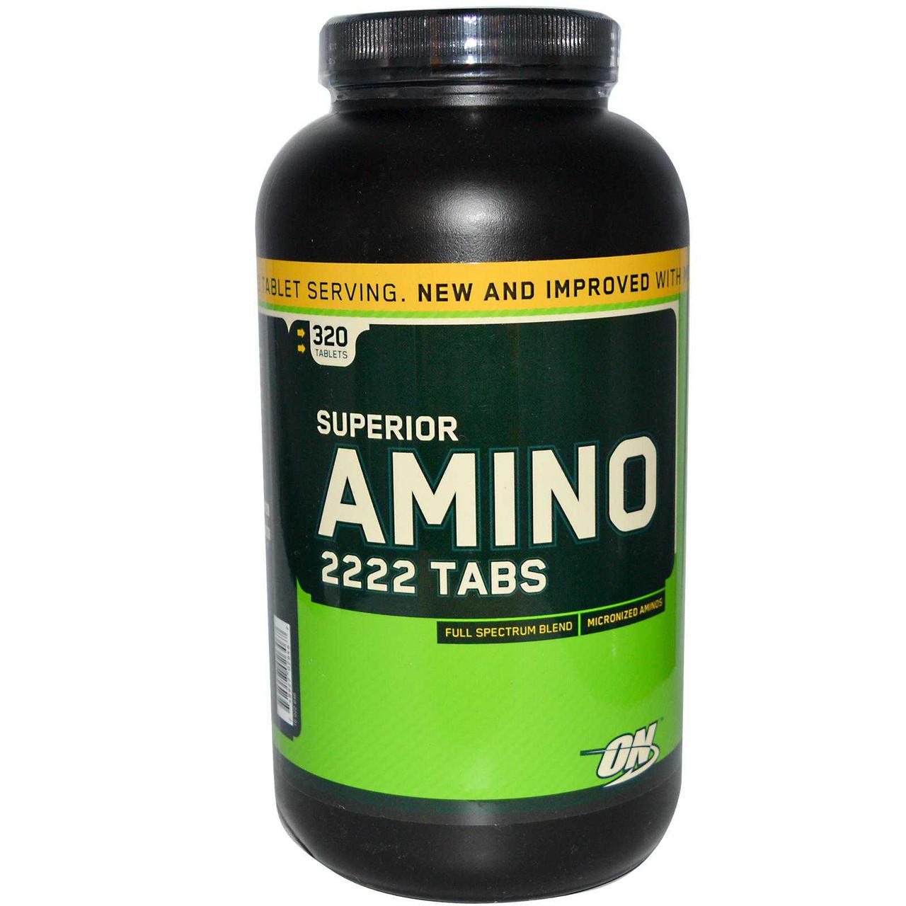 Аминокислоты OPTIMUM NUTRTION SUPER AMINO 2222,  320 TAB.