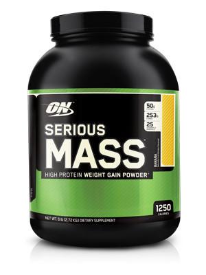 Гейнер 10%-20% Serious Mass, 6 lbs.