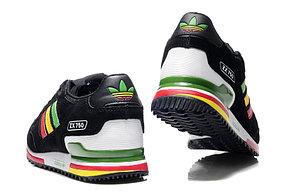 Кроссовки Adidas ZX 750 черные радуга, фото 2