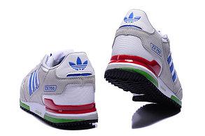 Кроссовки Adidas ZX 750 замшевые бело-серые , фото 2