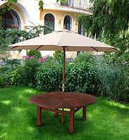 Зонт для летних площадок и кафе диаметр 2.8 м бежевый(меняет угол наклона), фото 1