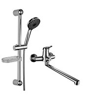 Комплект смесителей для ванной комнаты «2 в 1» Lemark SET