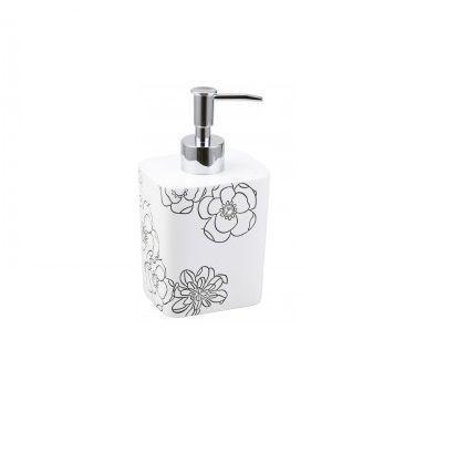 Дозатор для жидкого мыла Аквалиния белый цветок BPO-0307A