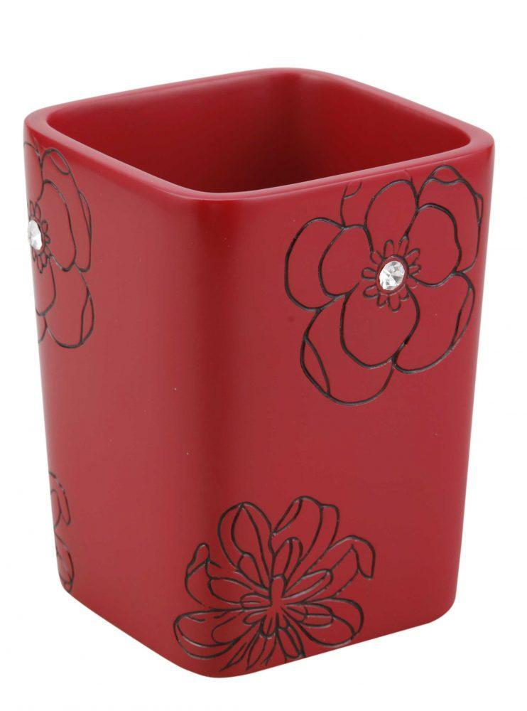 Стакан  Аквалиния красный цветок  BPO-0308C