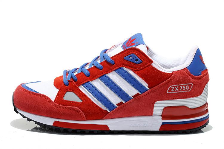 Кроссовки Adidas ZX 750 красные