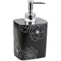 Дозатор для жидкого мыла Аквалиния черный цветок BPO-0306A