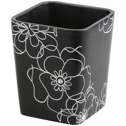 Стакан Аквалиния черный цветок BPO-0306C