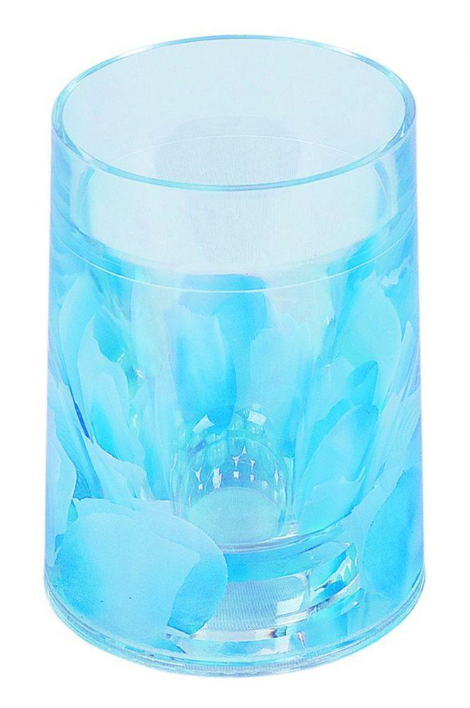 Стакан для зубных щеток Аквалиния голубые лепестки