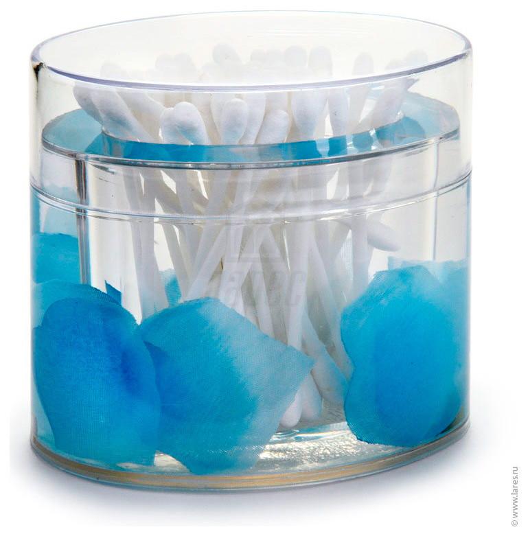 Стакан для ватных палочек Аквалиния голубые лепестки