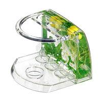 Подставка для зубных щеток Аквалиния малая зеленая