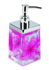 Дозатор для жидкого мыла Аквалиния розовые цветы