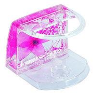 Подставка для зубных щеток малая Аквалиния розовые цветы