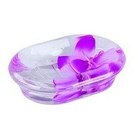 Мыльница Аквалиния фиолетовые лепестки