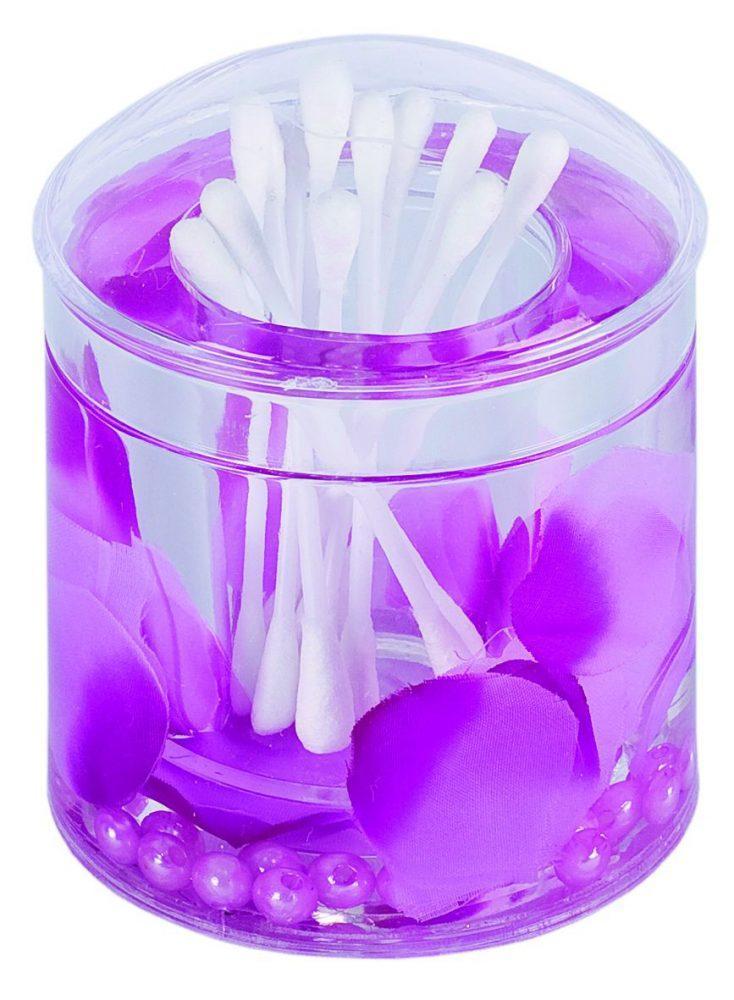 Стакан для ватных палочек Аквалиния фиолетовые лепестки