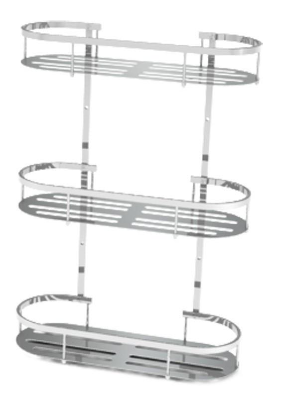 Полка Fixsen FX-837-3 овальная трехэтажная