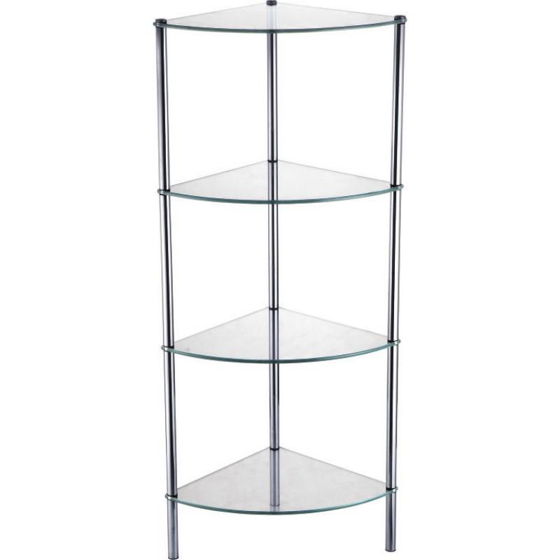 Угловая стеклянная этажерка Fixsen FX-9224 четырехэтажная