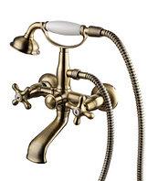 Смеситель Lemark Vintage LM2812B для ванны и душа с коротким изливом, бронза