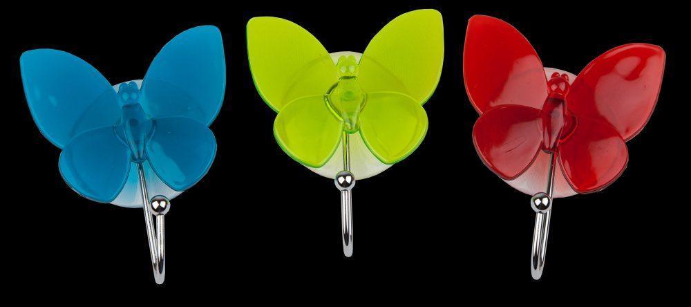 Крючок присоска бабочка синий Аквалиния (94-002)