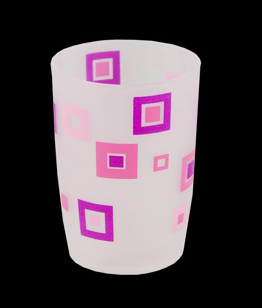 Стакан пластик розовые квадраты Аквалиния (8521С)