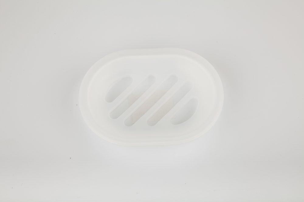 Мыльница пластик синии квадраты Аквалиния (8517М)