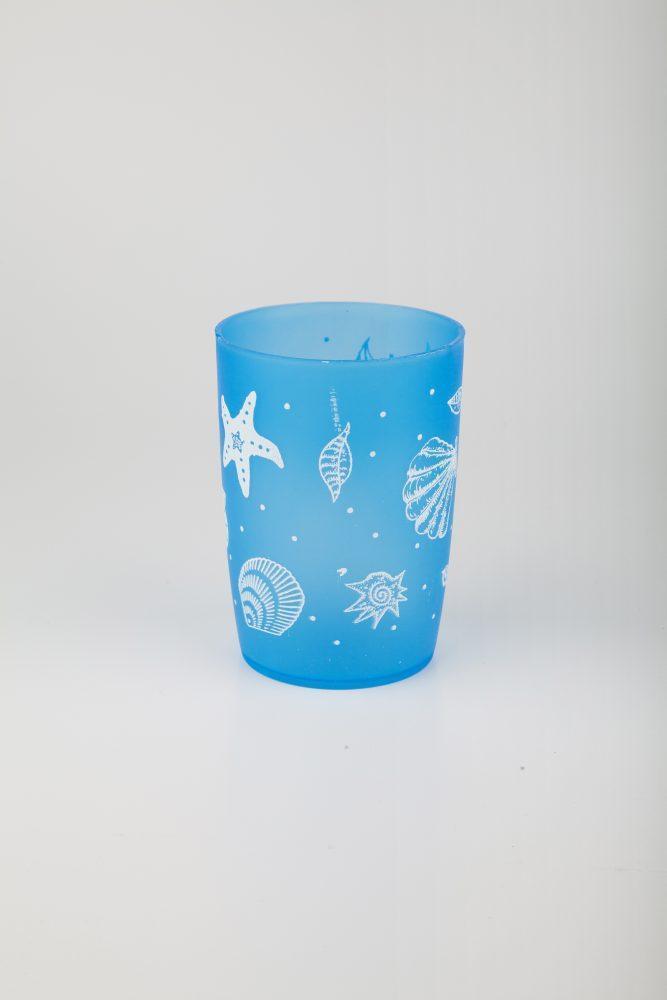 Стакан пластик синий ракушка Аквалиния (8511С)