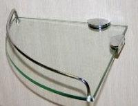 Полка угловая стеклянная Аквалиния (Z-103)