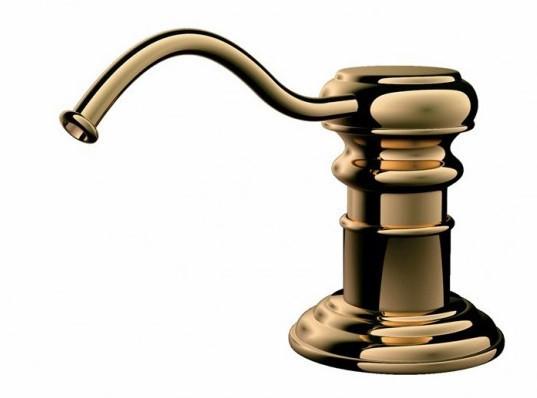 Дозатор для жидкого мыла Omoikiri OM-01-G (4995007) встраиваемый, золото