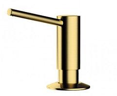 Дозатор для жидкого мыла Omoikiri OM-02-PVD-G (4995005) встраиваемый, светлое золото