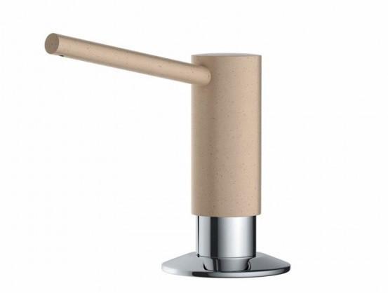 Дозатор для жидкого мыла Omoikiri ОМ-02-CH (4995025) встраиваемый, шампань