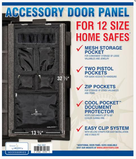 Накладка LIBERTY (с карманами) на дверь сейфов мод. HOME 12