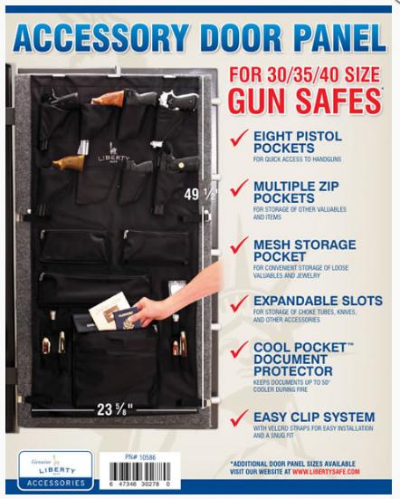 Накладка LIBERTY (с карманами) на дверь сейфов мод. 30-35-40