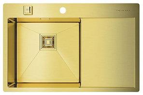 Кухонная мойка Omoikiri Akisame 78-LG-L ( 4993085)  нерж сталь 45 см