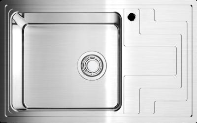Кухонная мойка Omoikiri Mizu 78-1-L (4993011) нерж сталь 45 см