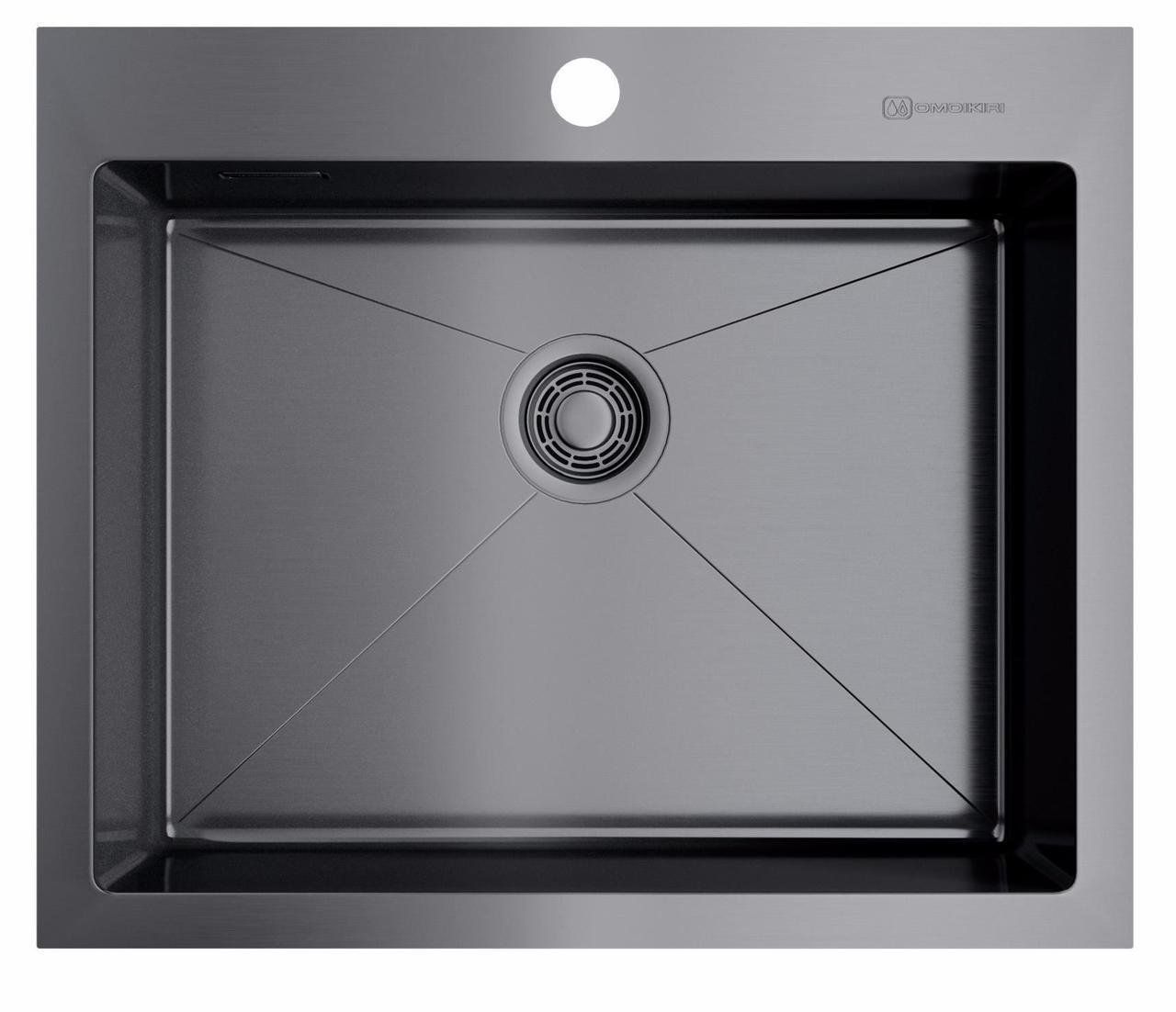 Кухонная мойка Omoikiri Akisame 59-GM (4973096) нерж сталь 60 см
