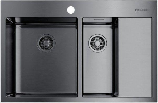 Кухонная мойка Omoikiri Akisame 78-2-GM-L (4973101) нерж сталь 60 см