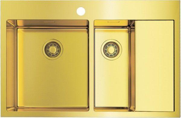 Кухонная мойка Omoikiri Akisame 78-2-LG-L (4973087) нерж сталь 60 см