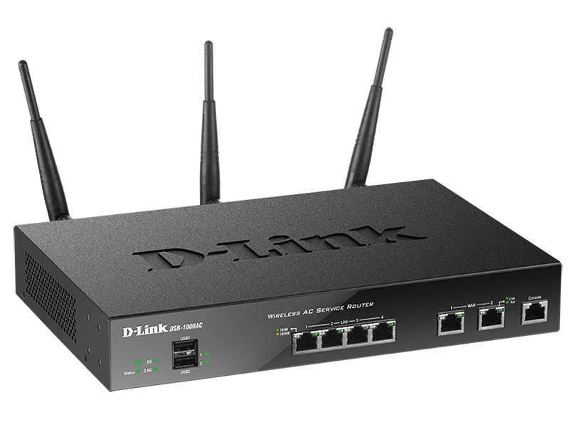 Беспроводной двухдиапазонный гигабитный сервисный маршрутизатор D-Link DSR-1000AC/RU/A1A