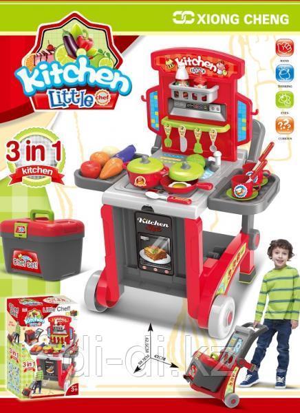 Детская Кухня - трансформер на тележке