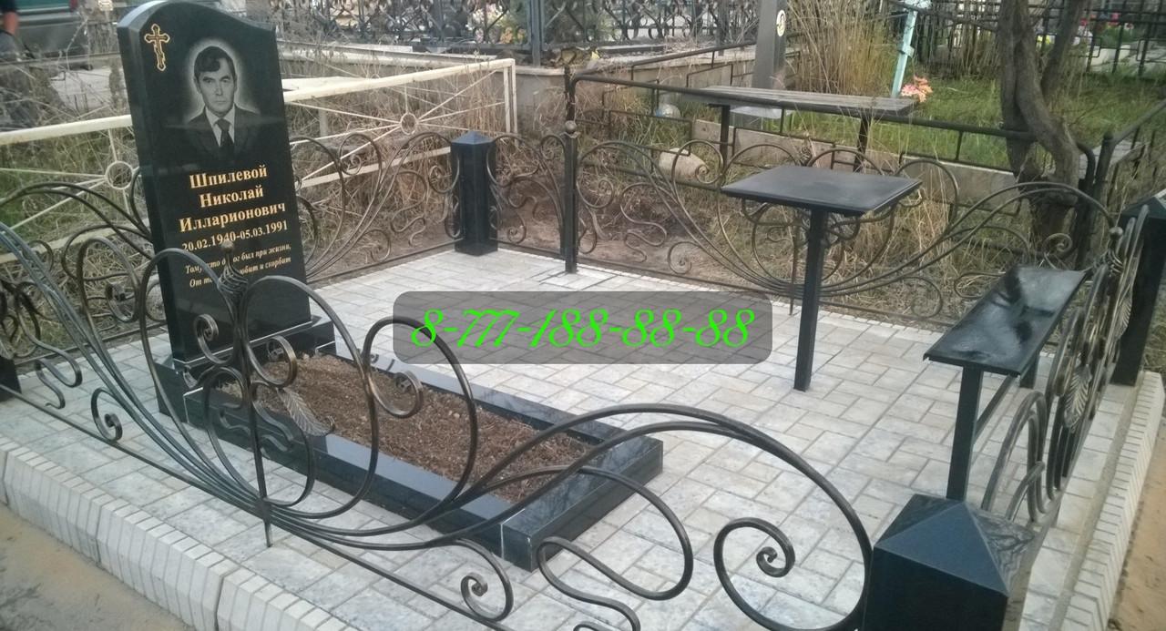 Благоустройство мест захоронения тротуарной плиткой