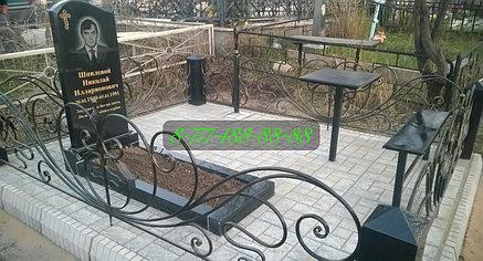 Благоустройство мест захоронения тротуарной плиткой, фото 2