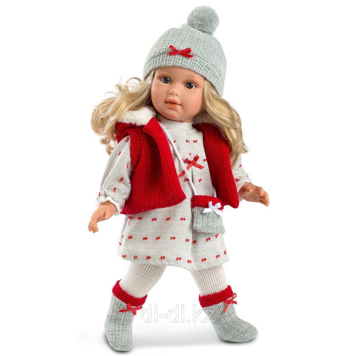 LLORENS Кукла Мартина 40см, блондинка в красном жилете