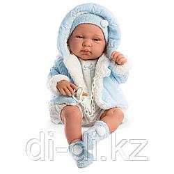 LLORENS Кукла малыш Тино 43см, в голубой курточке
