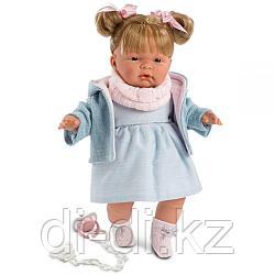 LLORENS Кукла Жоэль 38см, блондинка в голубом костюме