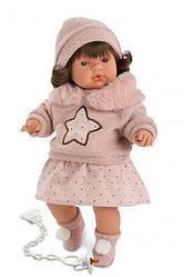 LLORENS Кукла Лола 38см, в розовом костюме