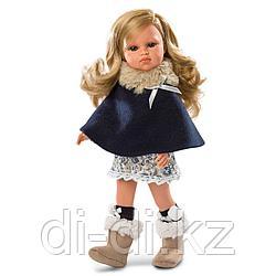 LLORENS Кукла Оливия 37см, блондинка в синей накидке