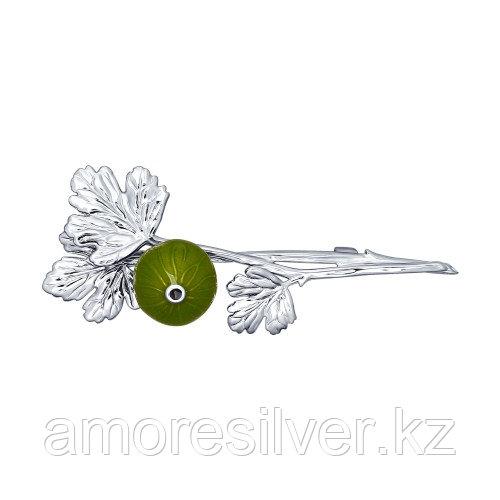 Брошь SOKOLOV серебро с родием, флора 94040124